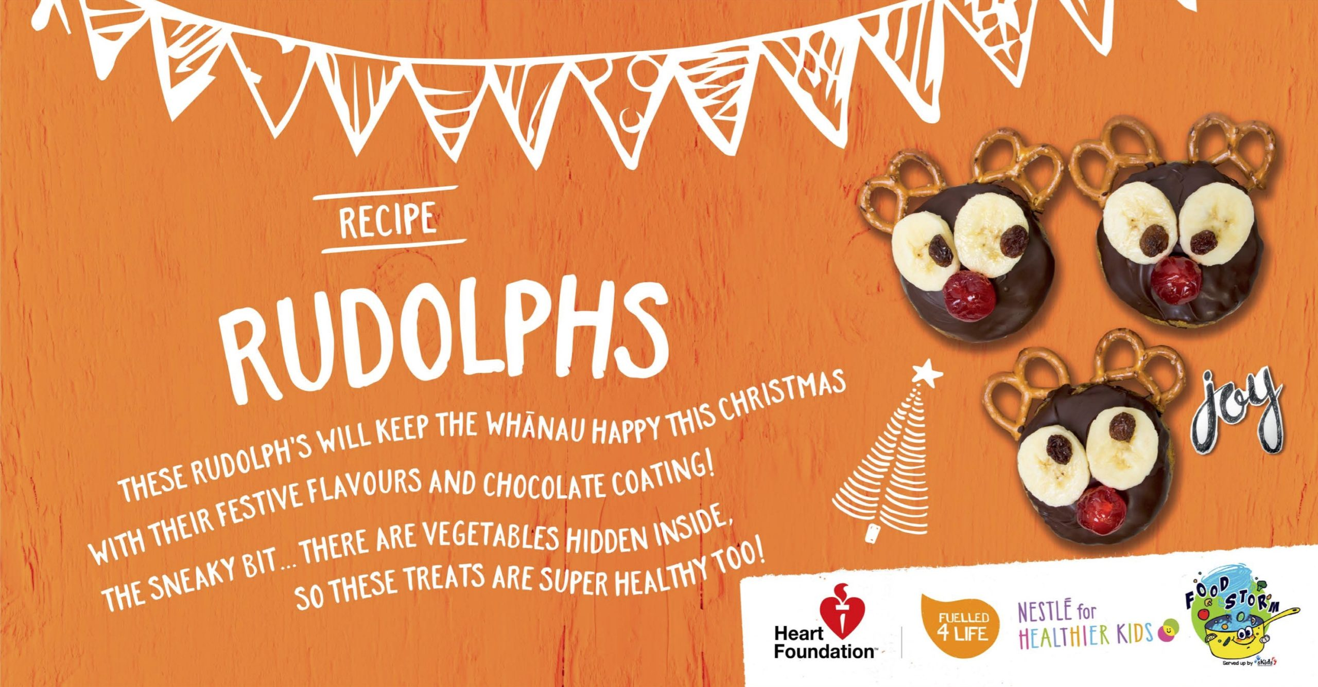 Rudolph's Treat Recipe Banner